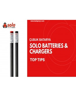 Higher Capacity Solo770 Battery Baton and Solo727 Charger
